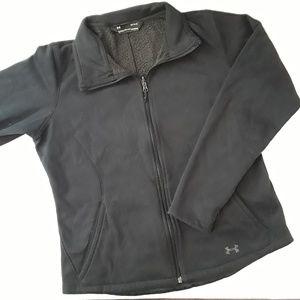Under Armour Jackets & Coats - UNDER ARMOUR | black fleece lining zip up jacket